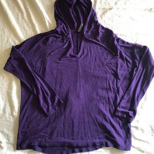 Royal purple Gaiam Active Hoodie LG